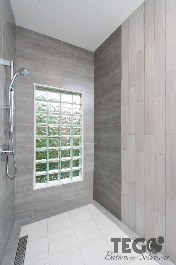 Vertical White Bathroom Tiles With Awesome Photo